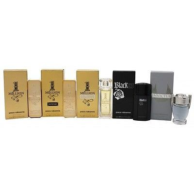 Paco Rabanne Miniatures Confezione Regalo 5ml 1 Million EDT  5ml 1 Million Intense  7ml 1 Million Cologne  5ml Invictus  5ml Black XS