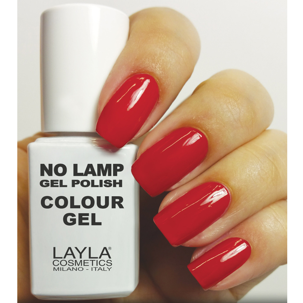 Layla  No lamp gel polish  smalto 8 red vegas