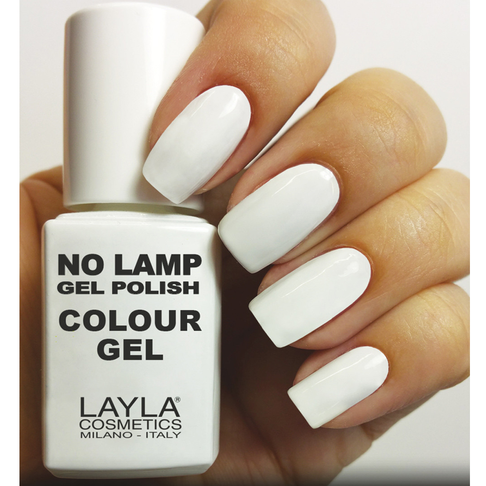 Layla  No lamp gel polish  smalto 1 straight white
