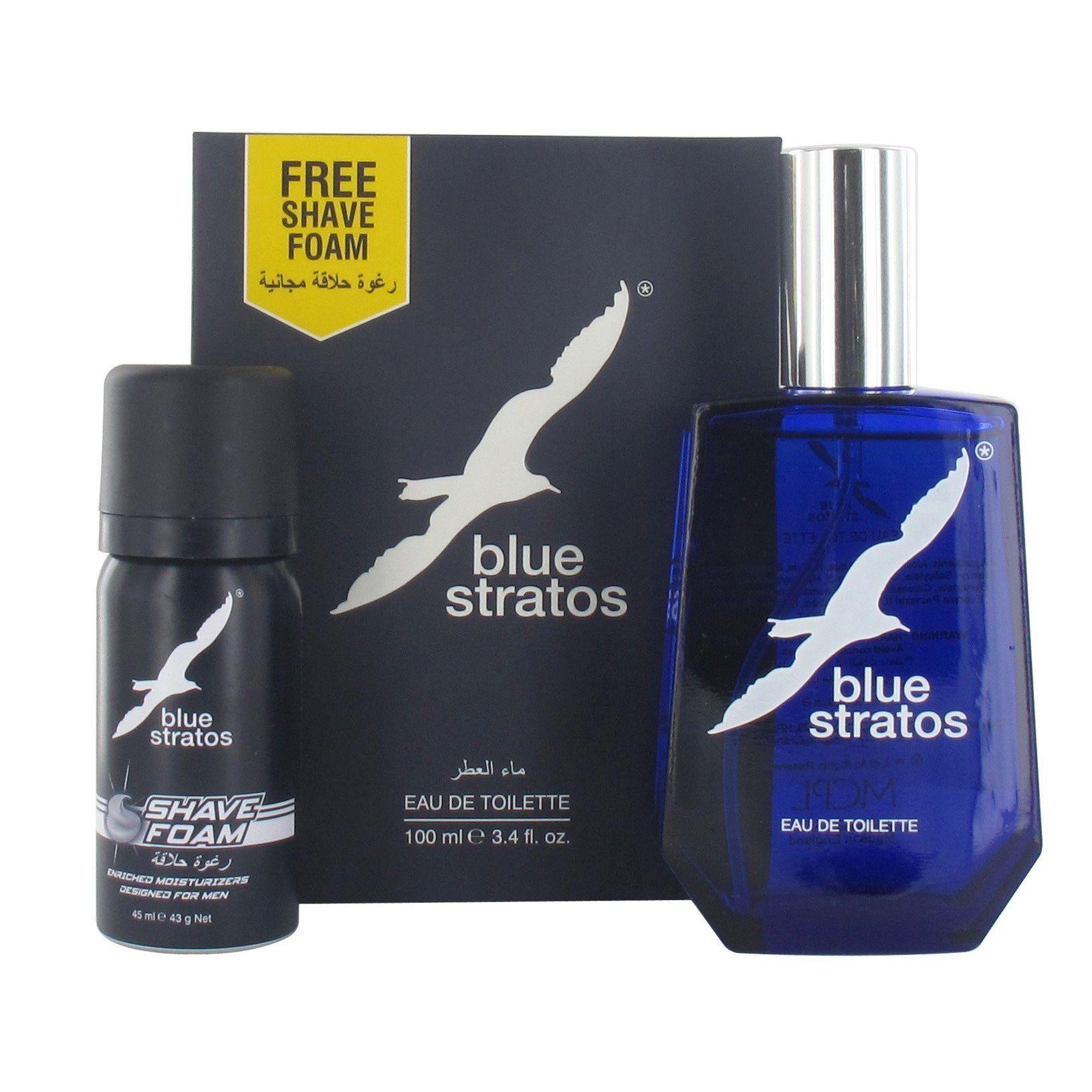 Parfums Bleu Limited Blue Stratos Confezione Regalo 100ml EDT  45ml Schiuma da Barba