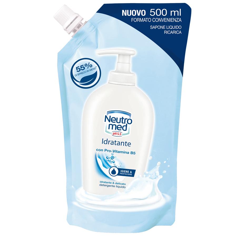 Neutromed  Idratante  sapone liquido ricarica 500 ml