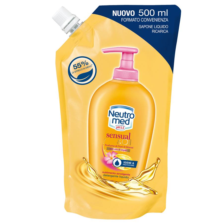 Neutromed  Sensualoil  sapone liquido ricarica 500 ml