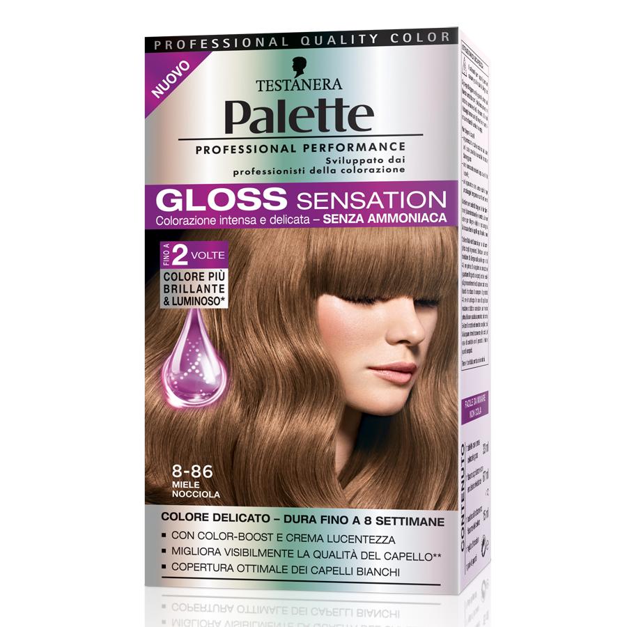 Testanera  Palette gloss sensation  colorazione per capelli 886 miele nocciola