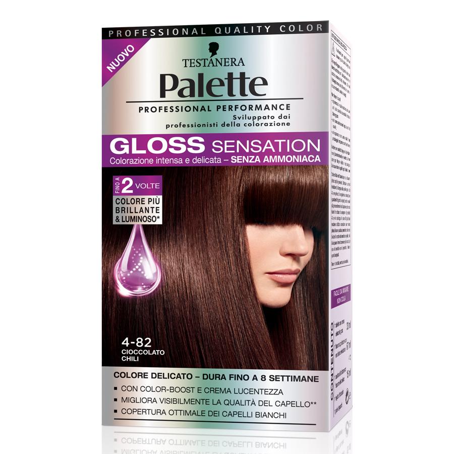 Testanera  Palette gloss sensation  colorazione per capelli 482 cioccolato chili