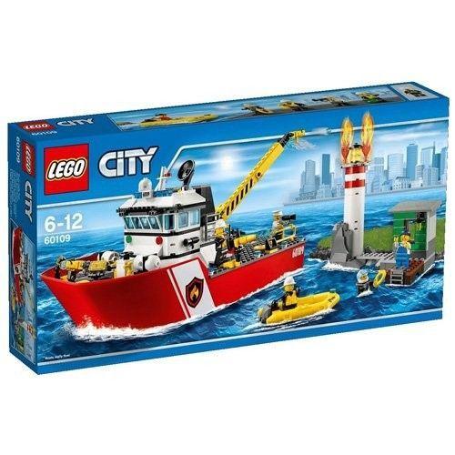 Lego Pompieri Motobarca Antincendio