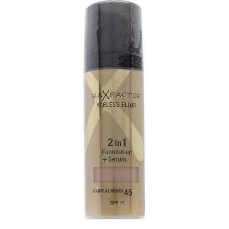 Max Factor Ageless Elixir 2 in 1 Foundation  Serum 30ml Warm Almond 45