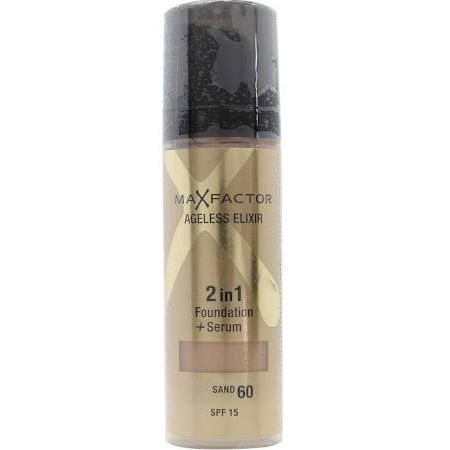 Max Factor Ageless Elixir 2 in 1 Foundation  Serum 30ml Sand 60