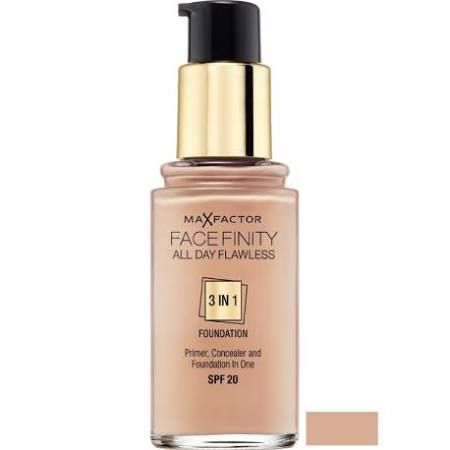 Max Factor Facefinity All Day Flawless 3 in 1 Fondotinta 30ml  SPF20 Warm Almond 45