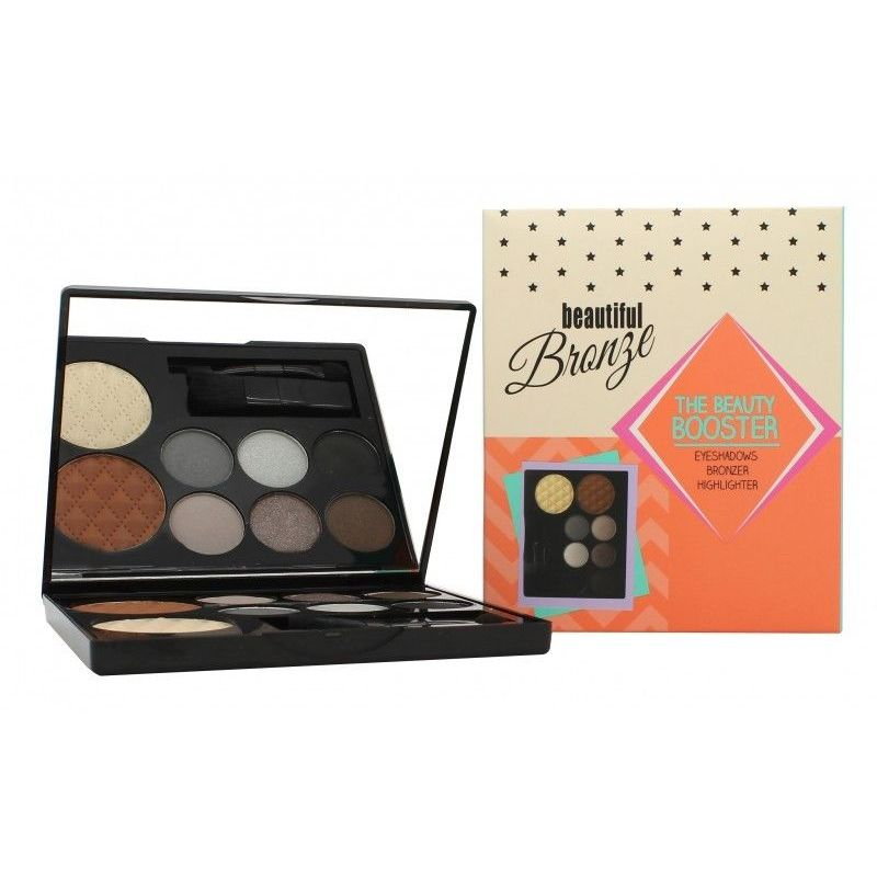 Sunkissed Beautiful Bronze Beauty Booster Confezione Regalo 6 x 2g Ombretti  4g Bronzer  4g Highlighter  Applicatore