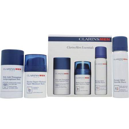 Clarins Mens Essentials Confezione Regalo 50ml Balsamo Idratante  50ml Gel da Barba  75g Deodorante Stick
