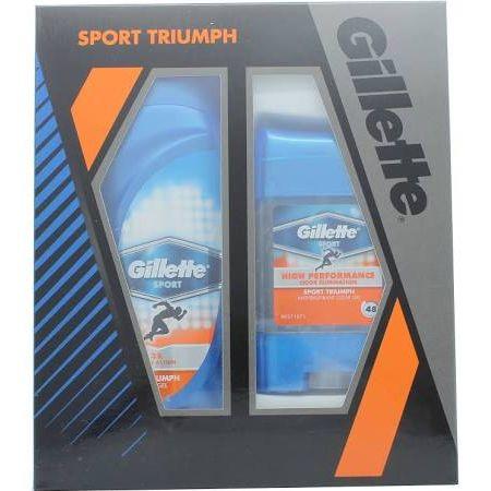 Gillette Sport Triumph Confezione Regalo 250ml Gel Doccia  70g Gel Deodorante Clear