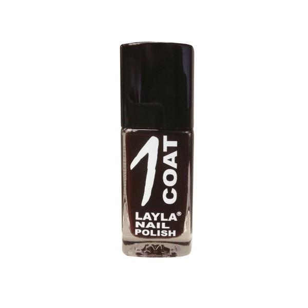 Layla  1 coat nail polish  smalto 11 lady brown