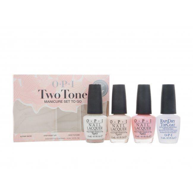 OPI Smalto Two Tone Manicure ToGo Confezione Regalo 4 x 15 ml Smalti