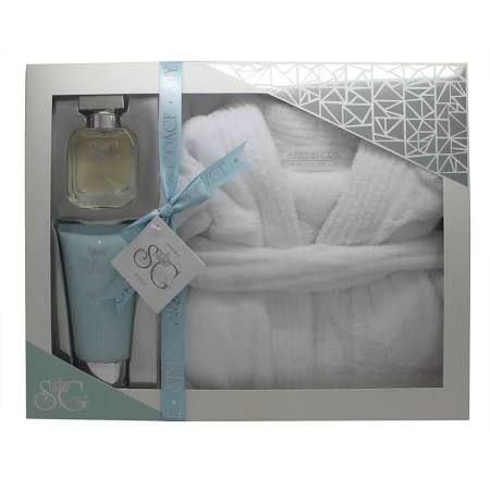 Style  Grace Puro Ultimate Comfort Robe Confezione Regalo 150ml Lozione Corpo  50ml EDP  Accappatoio Taglia Unica