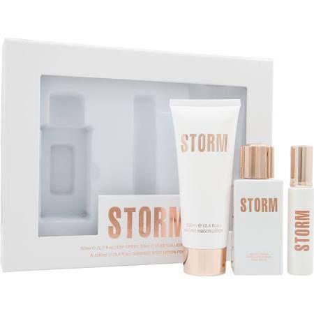 STORM Lux Pour Femme Confezione Regalo 50ml EDP Spray  100ml Lozione Corpo  20ml Spray da Borsetta