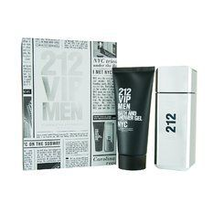 Carolina Herrera 212 VIP Men Confezione Regalo 100 ml EDT  100 ml Bagnoschiuma  Gel Doccia  150 ml Deodorante Spray