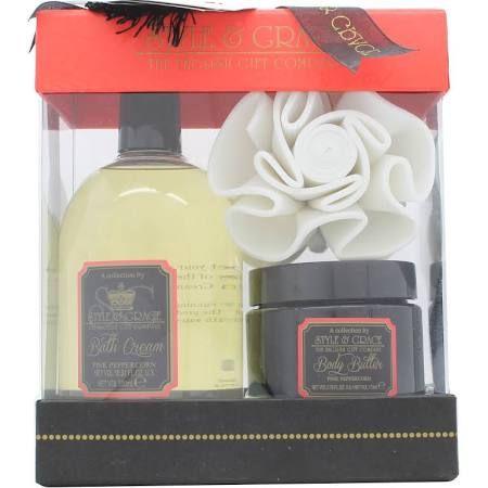 Style  Grace Decadence Irresistibly Rich Bath  Body Confezione Regalo 500ml Crema da Bagno  170ml Burro per Corpo  Spugna a Fiore