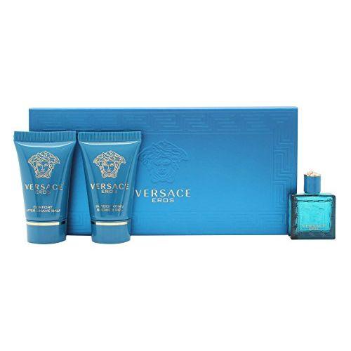 Versace Eros Confezione Regalo 5 ml edt  25 ml Gel doccia  25 ml Balsamo Dopobarba