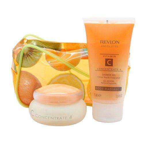 Revlon Absolutes Vitamin C Concentrate Confezione Regalo 50 ml Idratante Giorno  Notte  75 ml Gel Doccia  Borsa