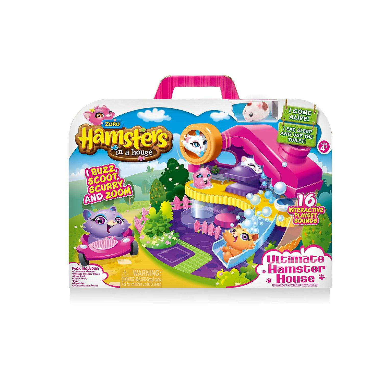 Hamsters In A House Peluche Playset Deluxe
