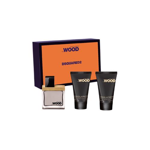 Dsquared2 Cofanetto he wood blue  orange set  eau de toilette 30 ml  hair  body wash 30 ml  hydrating body moisturizer 30 ml