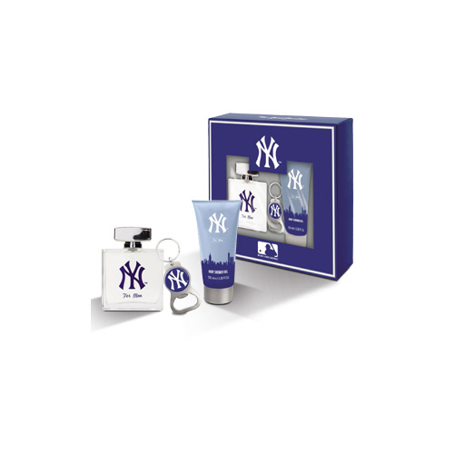 New York Yankees  Cofanetto new york yankees for men  eau de toilette 100 ml  shower gel 100 ml  portachiavi
