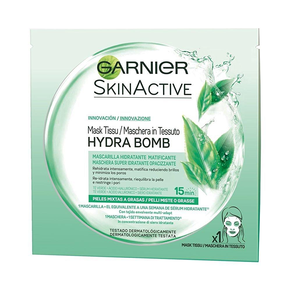 Garnier HYDRA BOMB Maschera in Tessuto  Super Idratante Opacizzante per pelli miste o grasse