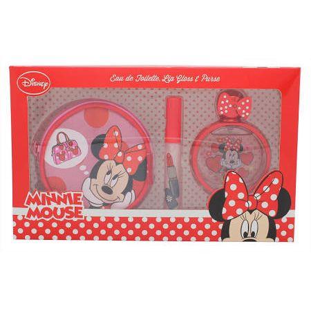 Disney Minnie Mouse Confezione Regalo 50ml EDT  Lucidalabbra  Portamonete Rotondo