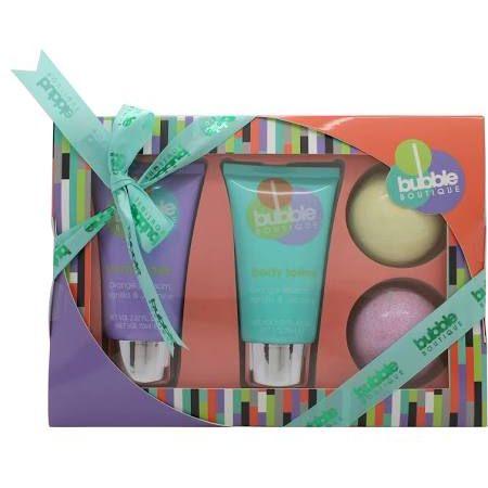 Style  Grace Bubble Boutique Bath  Body Essentials Confezione Regalo 70ml Bagnoschiuma  70ml Lozione Corpo  2 x 90g Saponi da Bagno Arancio  Verde
