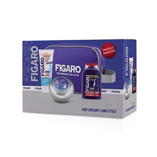 Figaro  Cofanetto silver  crema pre rasatura  crema da barba  dopobarba gel lotion  beauty