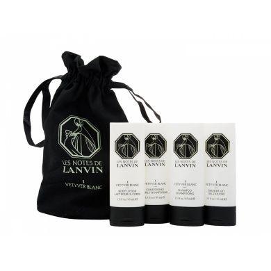 Lanvin Les Notes de Lanvin I Vetyver Blanc Confezione Regalo 45 ml Lozione Corpo  45 ml Balsamo  45 ml Shampoo  45 ml Gel Doccia  Borsetta