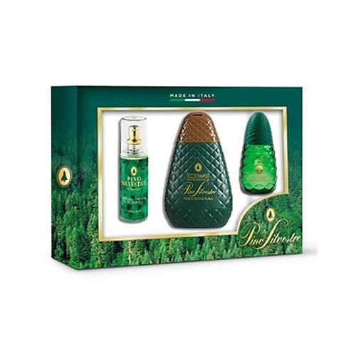 Pino Silvestre  Cofanetto pino silvestre forte di natura  deo parfum 100 ml  doccia shampoo 250 ml  eau de toilette 75 ml