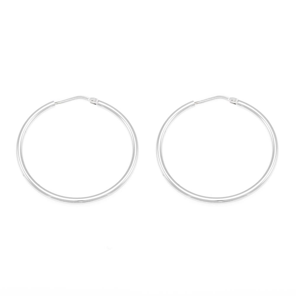 Paclo 10CR50CLFR999 argento ag 925 Orecchini a cerchio Galvanica Rodiata 35cm