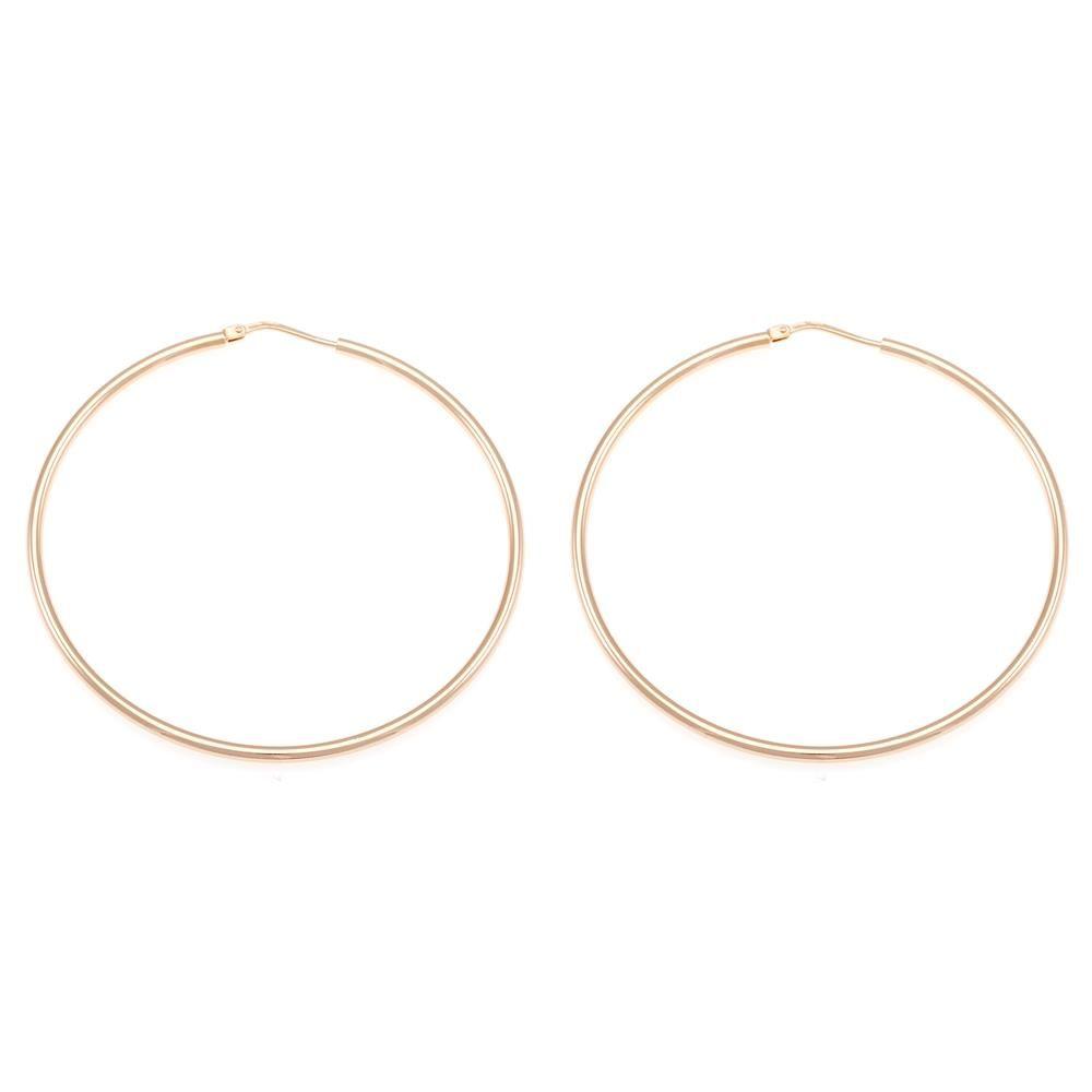 Paclo 10CR53CLFP999 argento ag 925 Orecchini a cerchio Galvanica Rose 55cm
