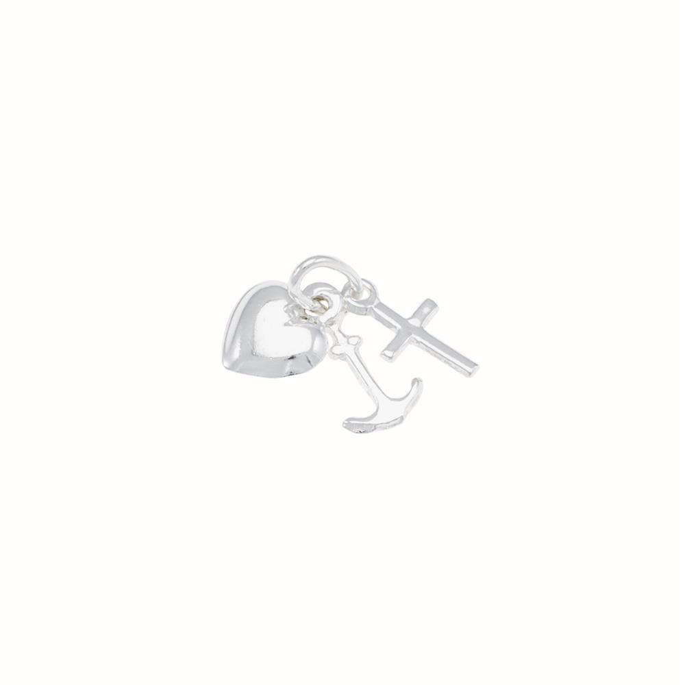Paclo 10CU02CLPA999 argento ag 925 Pendente Galvanica Argentata 1cm