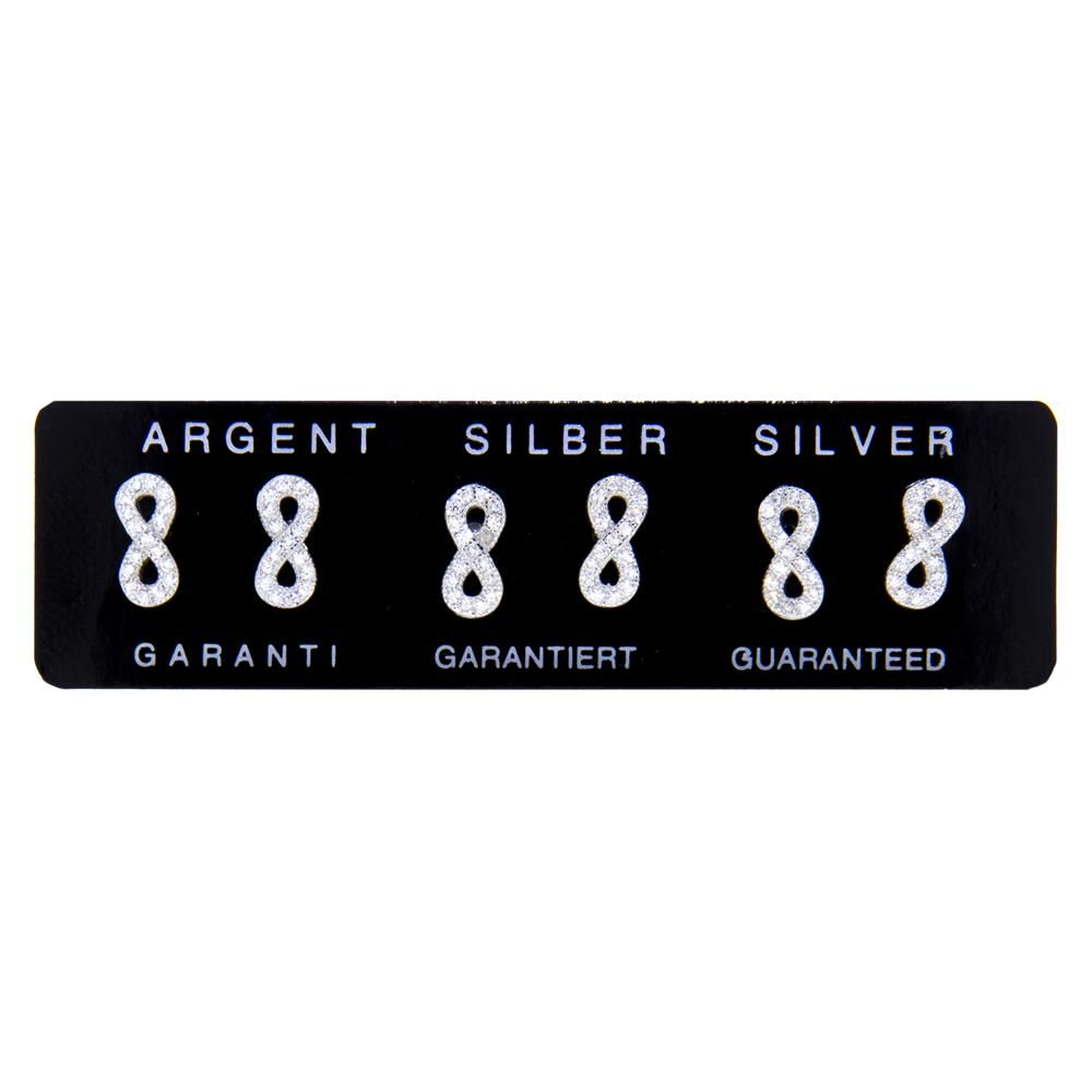 Paclo 11IN08IPER999 argento ag 925 Orecchini Galvanica Rodiata Zircone Bianco Infinito 09cm