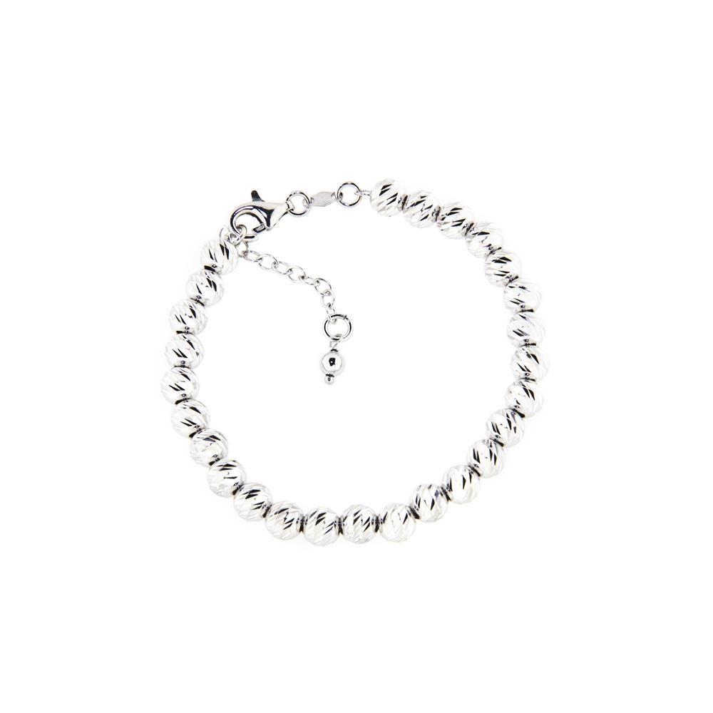 Paclo 14PD03LIBR999 argento ag 925 Bracciale Galvanica Rodiata Multifilo Diamantato