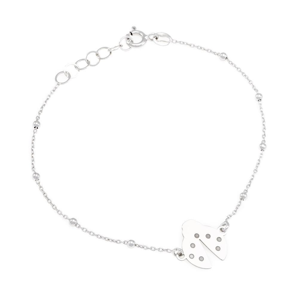 Paclo 16A023LIBR999 argento ag 925 Bracciale Galvanica Rodiata 16 piu 3cm