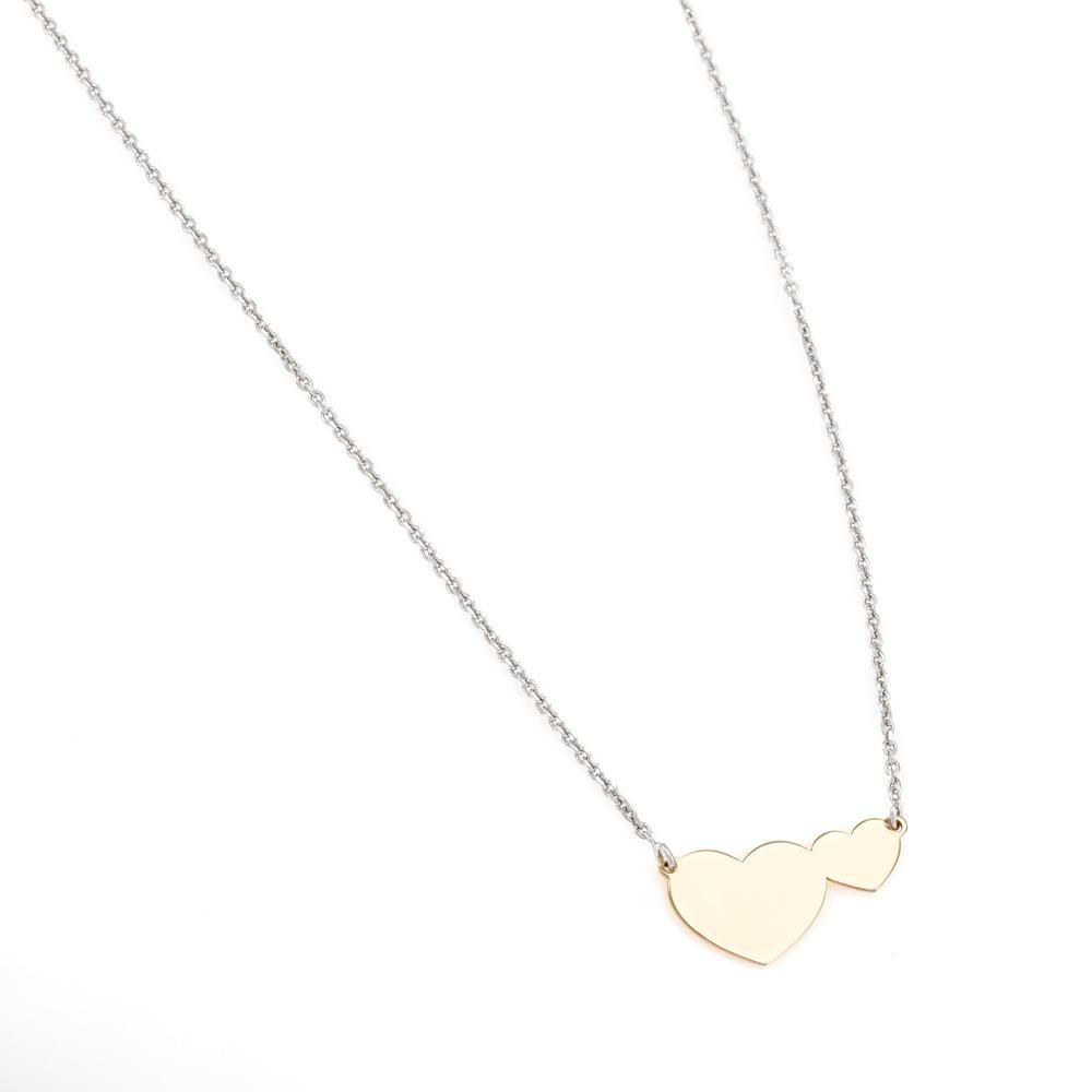 Paclo 16C058LINP999 argento ag 925 Collana Galvanica Rose Cuore 40 piu 5cm