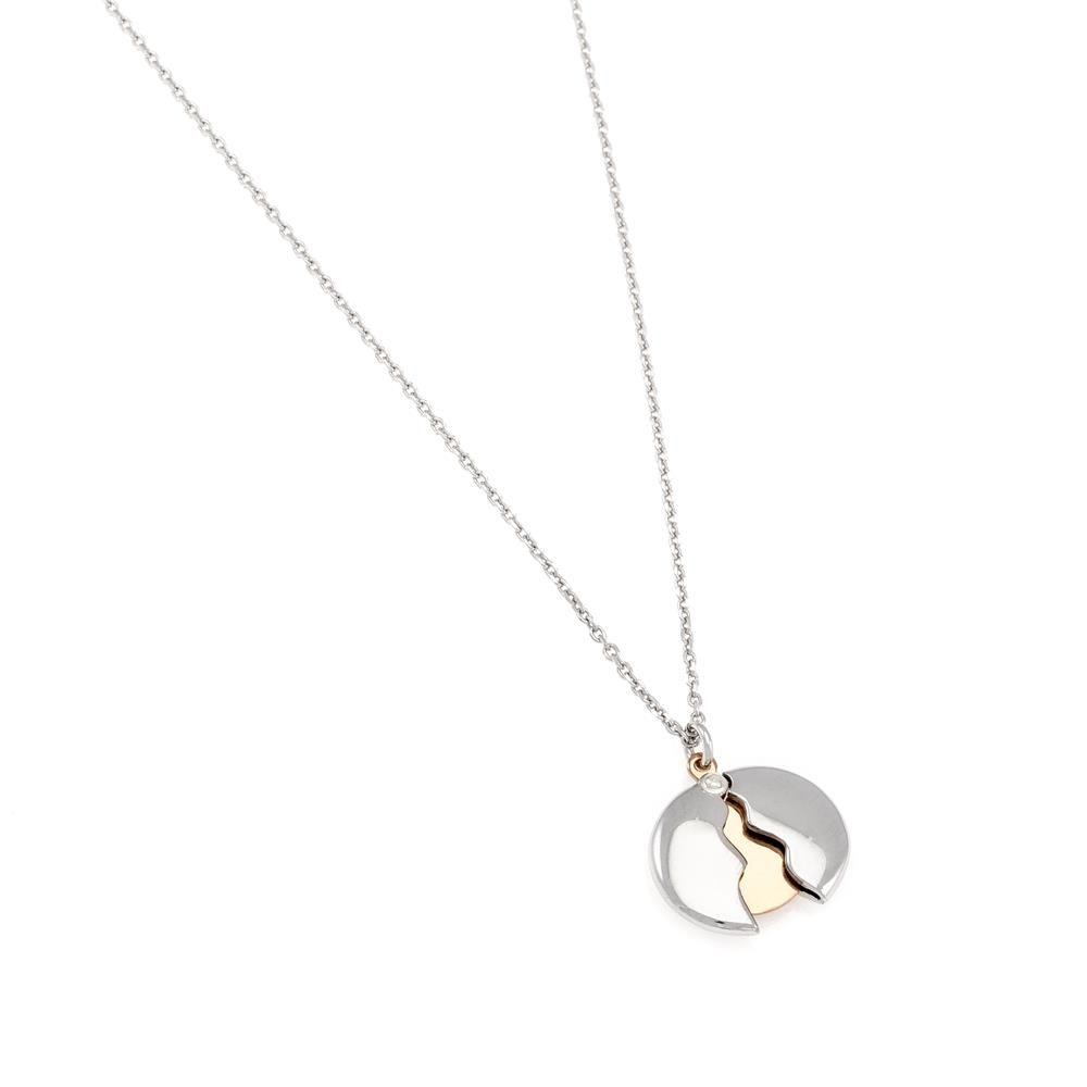 Paclo 16C065LINX999 argento ag 925 Collana Galvanica Multicolore Cerchio 40 piu 5cm