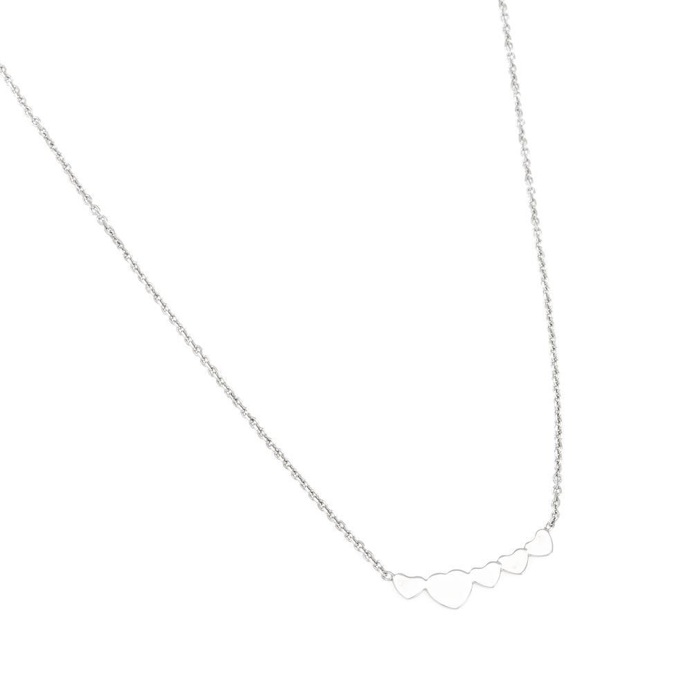 Paclo 16C068LINR999 argento ag 925 Collana Galvanica Rodiata Cuore 43 piu 5cm
