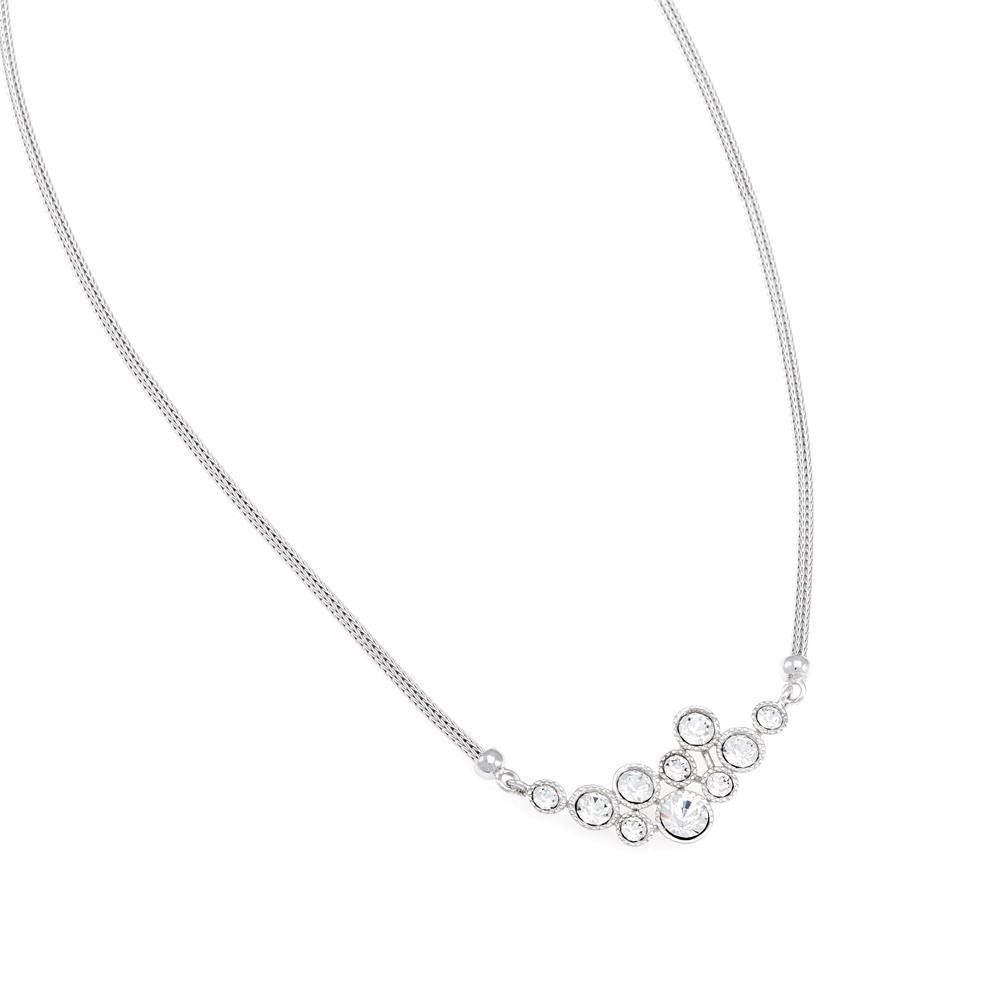 Paclo 16CA21ELNR999 argento ag 925 Collana Galvanica Rodiata Calza Zircone Bianco 42cm