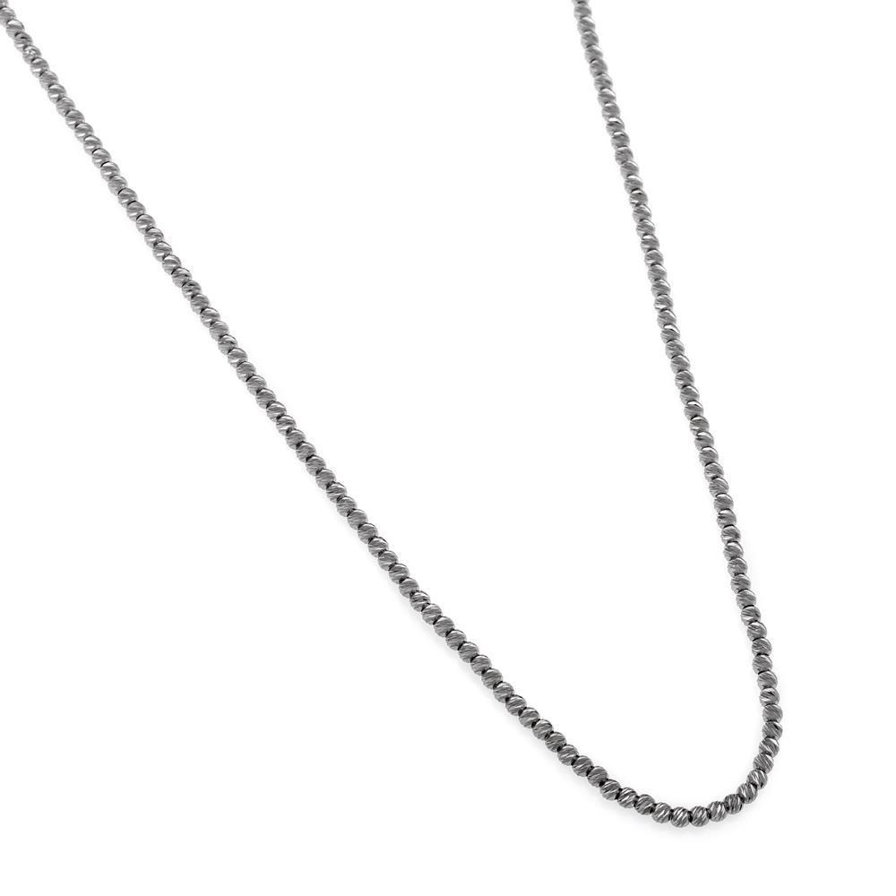 Paclo 16DC29LINN999 argento ag 925 Collana Galvanica Rutenio DCut 45 piu 5cm