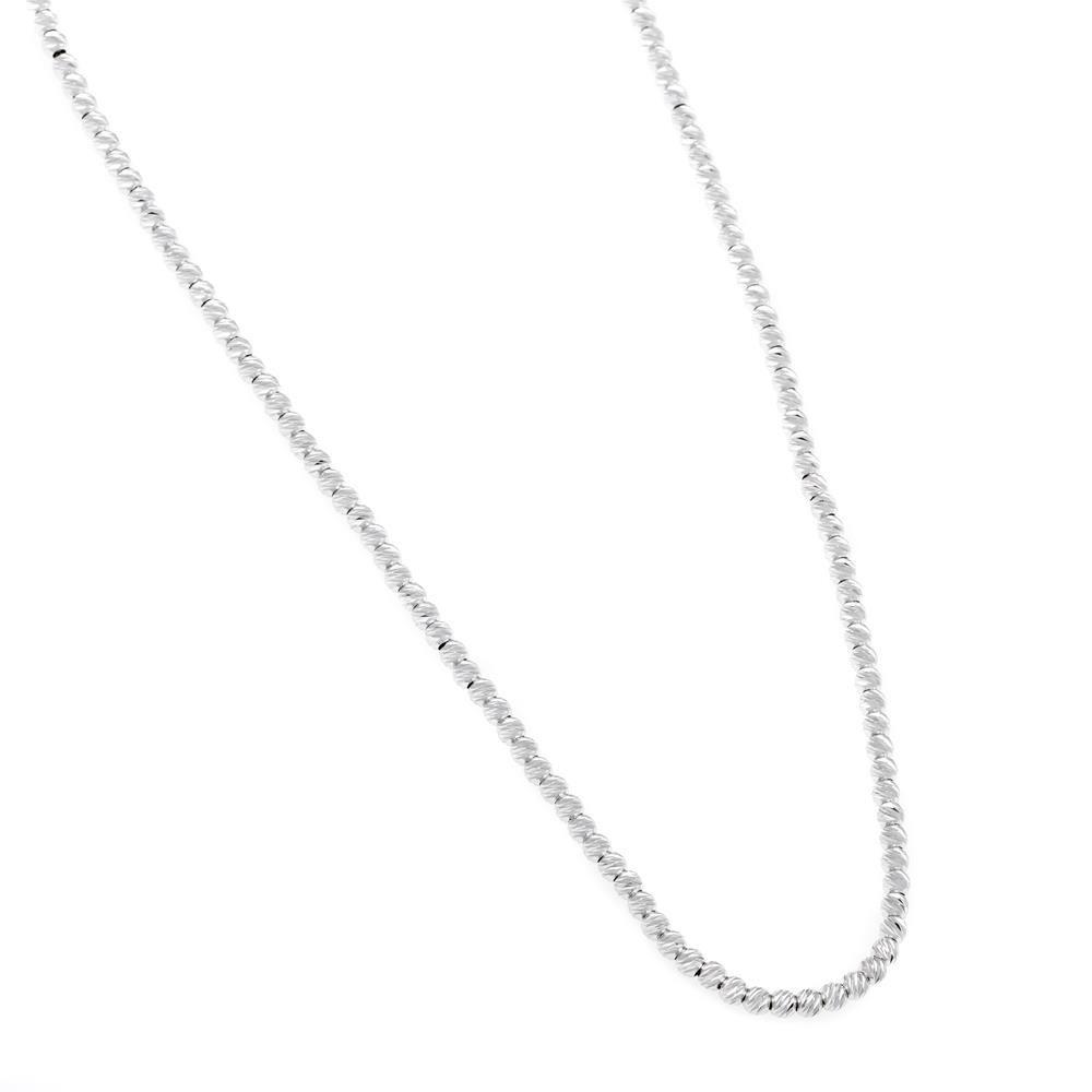 Paclo 16DC29LINR999 argento ag 925 Collana Galvanica Rodiata DCut 45 piu 5cm