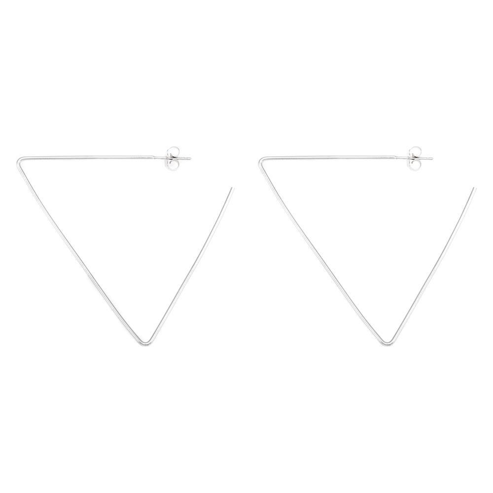 Paclo 16GE09COER999 argento ag 925 Orecchini Galvanica Rodiata Geometric 6cm
