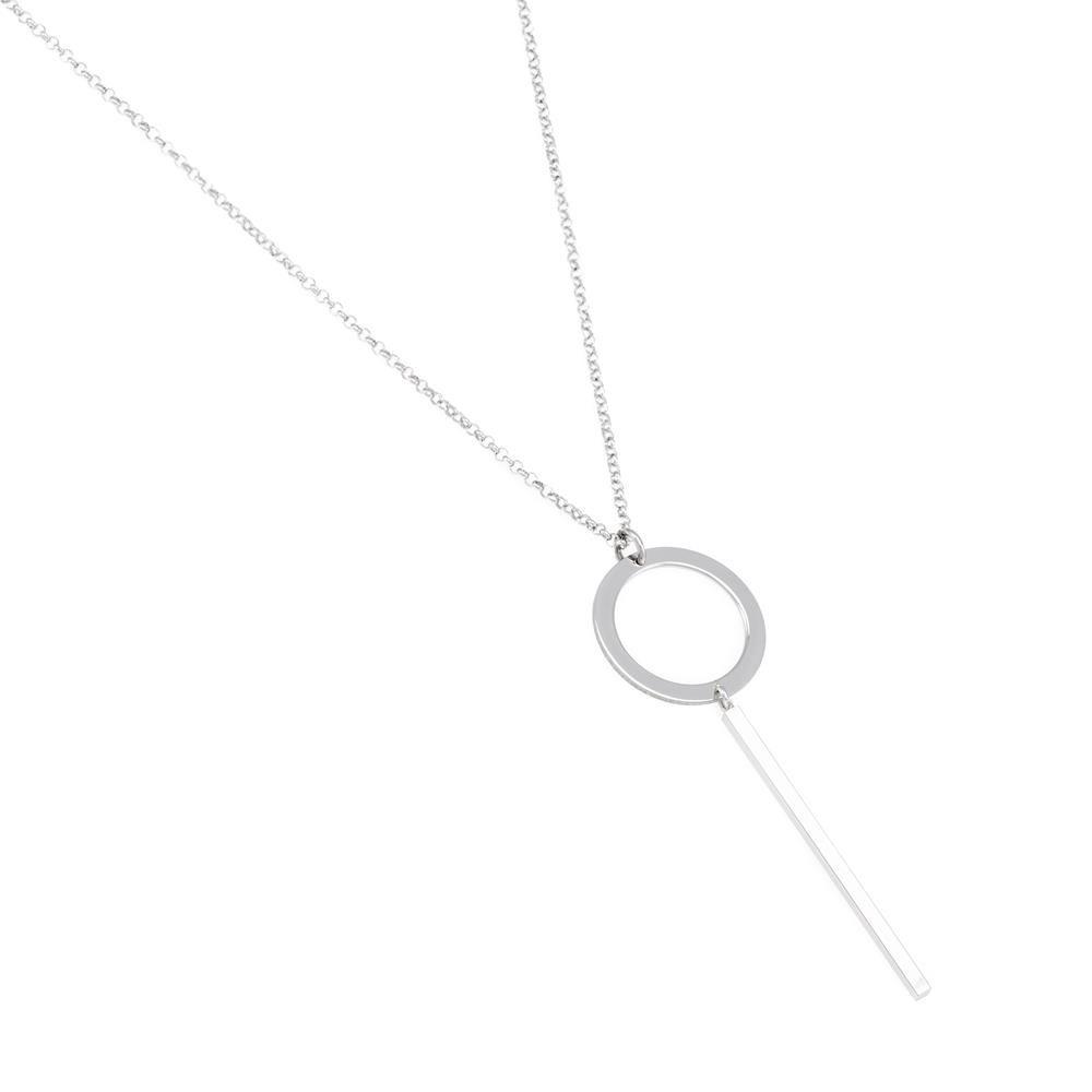Paclo 16GE12CONR999 argento ag 925 Collana Galvanica Rodiata Geometric 42 piu 5cm