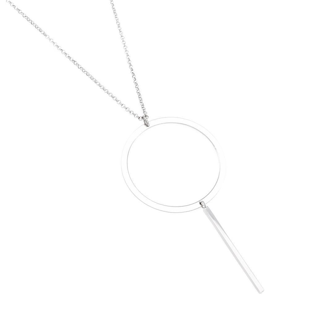 Paclo 16GE13CONR999 argento ag 925 Collana Galvanica Rodiata Geometric 75 piu 5cm