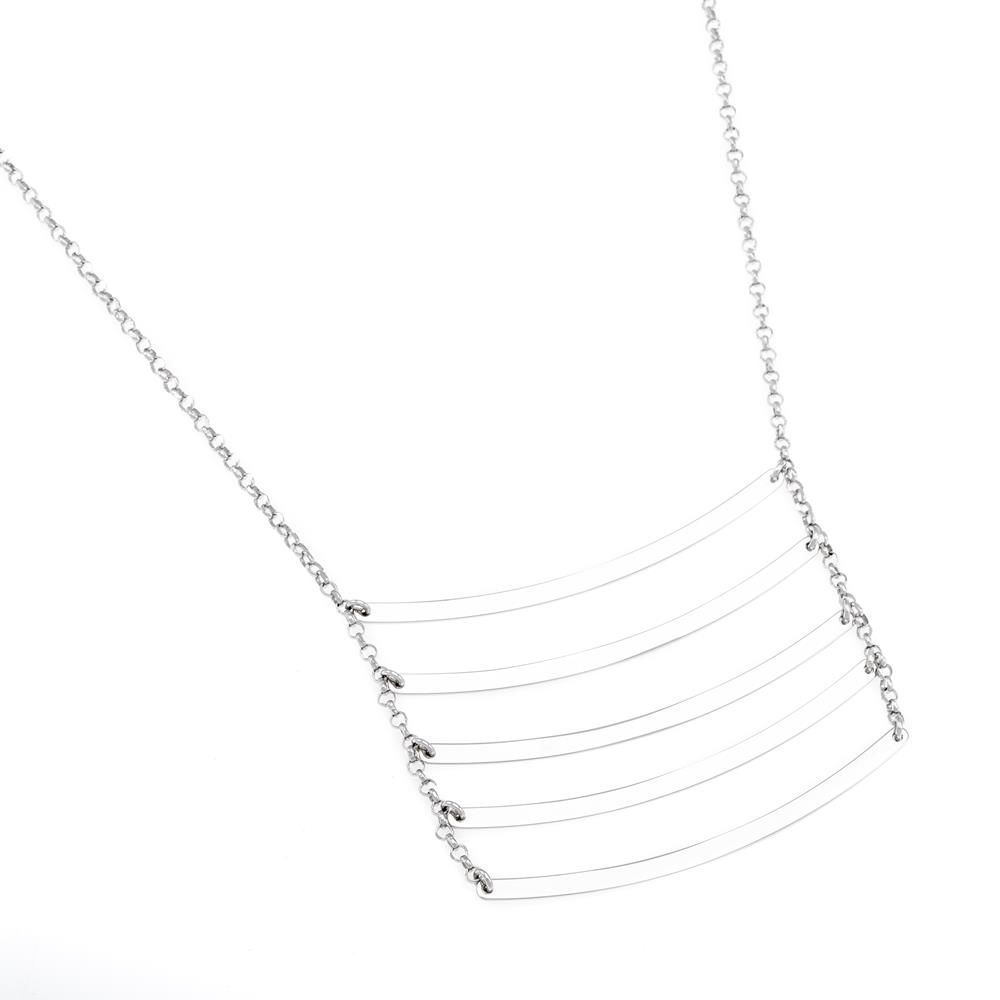 Paclo 16GE14CONR999 argento ag 925 Collana Galvanica Rodiata Geometric 7950cm