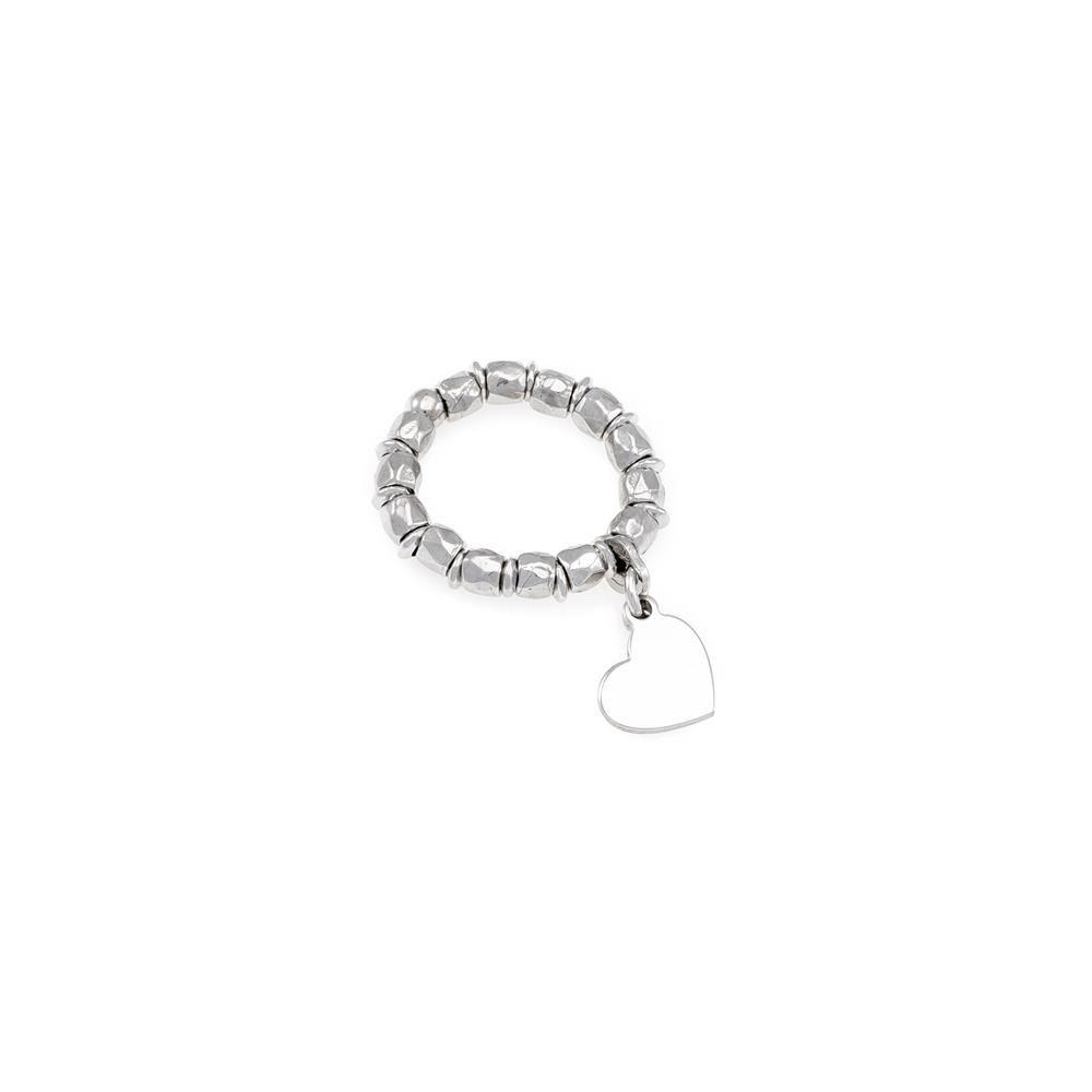 Paclo 16PS11CORR99A argento ag 925 Anello Anello Regolabile Galvanica Rodiata Cuore