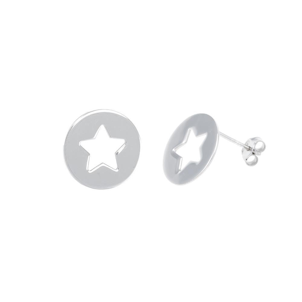 Paclo 16ST35LIER999 argento ag 925 Orecchini Galvanica Rodiata Stelle 15cm
